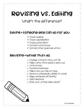 Revising vs. Editing Handout