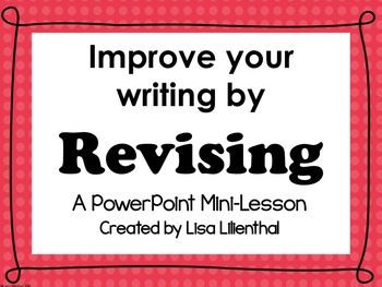 Revising with ARMS PowerPoint Mini-Lesson