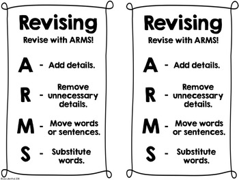Revising with ARMS Freebie!