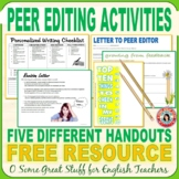 PEER EDITING with FIVE FREE ACTIVITIES