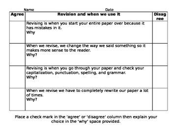 Revision Anticipatory Set