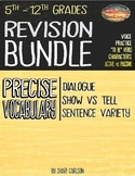 Using Revision Bundle--Show vs Tell, Adding Dialogue & Sen