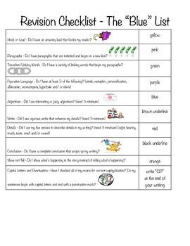 Revision Checklist