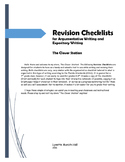 Revision Checklist for Argumentative and Expository Writing