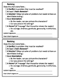 Revision & Editing Checklists for Narrative Writing