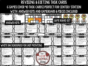 Revising and Editing Task Card Game & STAAR Writing