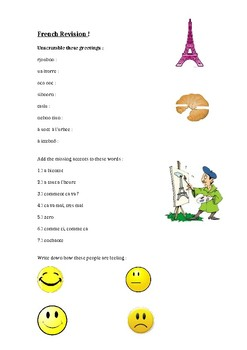 Revision - French greetings, accents & feelings