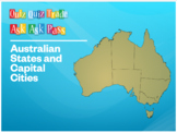Revision Game: Australian States & Capital Cities (Ask-Ask-Pass/Quiz-Quiz-Trade)