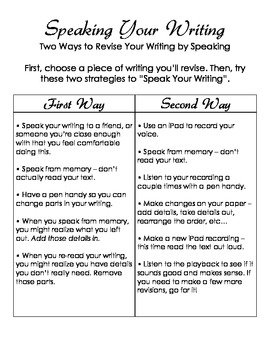 Revision Lessons for Voice in the Writer's Workshop - Common Core Aligned