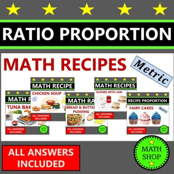 Revision - Maths – Recipes Bundle – Proportion – Ratio - Metric