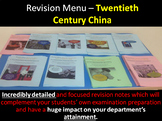 Revision Menu – Twentieth Century China