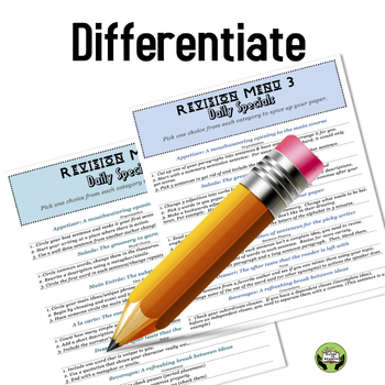 Revision Menus for Writing Grades 6-12