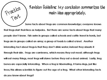 Revision Resources for Expository Writing