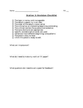 Revision Skills Checklist