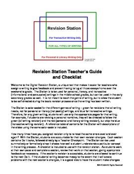 Revision Station Checklist