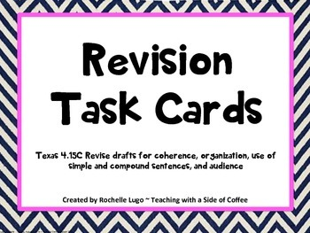Revision TASK Cards with QR Codes