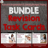 Writing Revision Task Cards (Argument, Literary Analysis, Narrative) Bundle