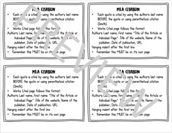 Revision Task Cards  *EDITABLE*