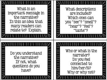 Revision Task Cards for Narrative Writing