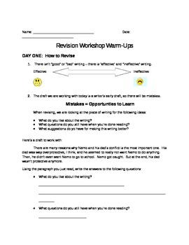 Revision Workshop Exercises