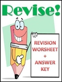 Revision (Writing) Worksheet & Answer Key, Grades 4-6