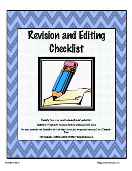 Revision and Editing Checklist and Graphic Organizer