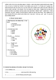Revision evaluation worksheet for beginners to elementary