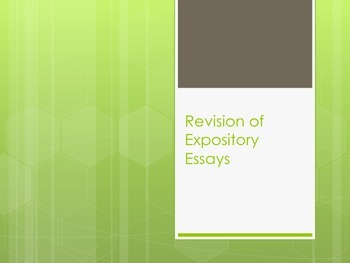 Revision in Expository Writing