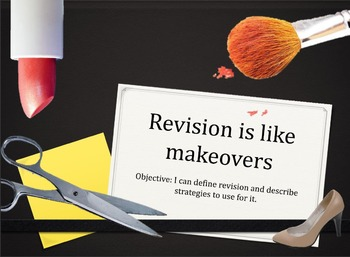 Revision is like a Makeover: Lesson for ANY Writing Assignment!