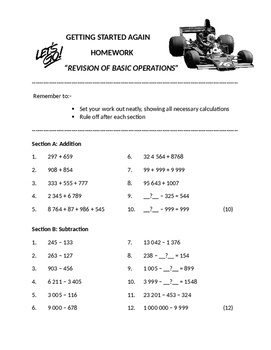 Revision of Basic Operations
