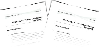 Revision to Introduction to Website Localization