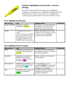 Revision with Highlighting