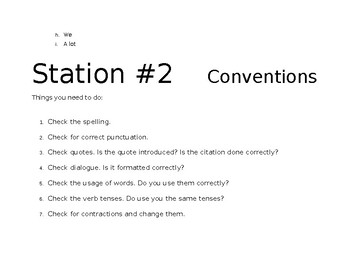 Revision writing stations