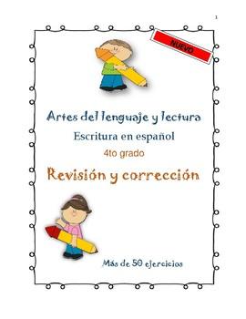 Revisión y corrección Español 4to Grado