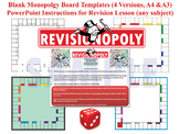 Revisionopoly (Monopoly-style Board Game Templates) with PPT Instructions & AfL