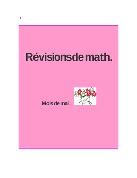 Révisions de math Mai - Math daily review