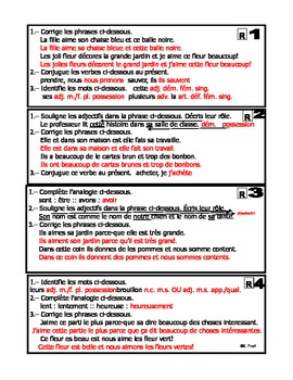 French Immersion: Révisons 4-Corrections