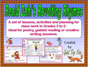 Roald Dahl's Revolting Rhymes poetry lessons and activities