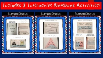Revolutionary War Interactive Notebook and Presentation
