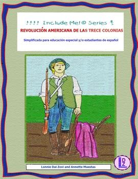 Revolución Americana en dibujos para diferenciar instrucción, educación especial