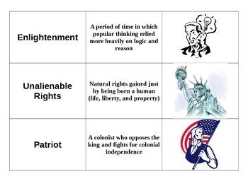 Revolution Era Vocabulary Game