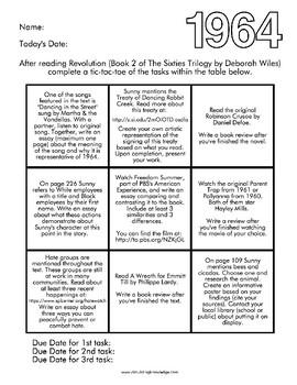 Revolution: The Sixties Trilogy PBA - Menu