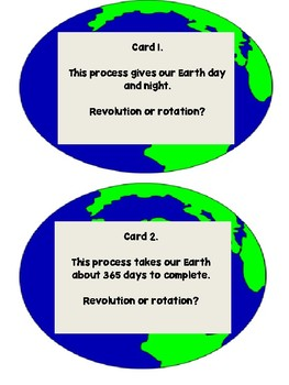 Revolution and Rotation..Meets NGSS and TEKS