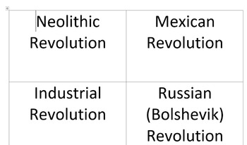 Revolution review matching cards