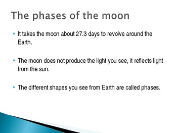 Revolution/Rotation, Day/Night, Phases of the Moon, and Seasons Powerpoint