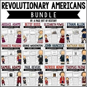 Revolutionary Americans Biography Pack BUNDLE