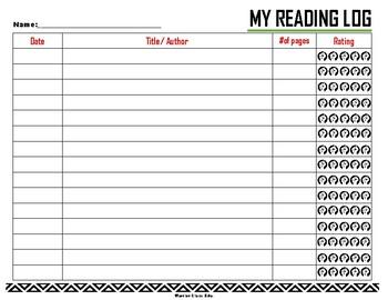 Revolutionary Book Marks & Reading Log