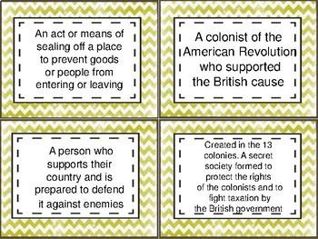 Revolutionary Era Task Cards