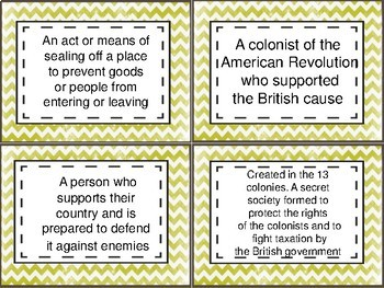 Revolutionary Era Task Cards