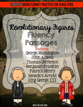 Revolutionary Figures Fluency Passages